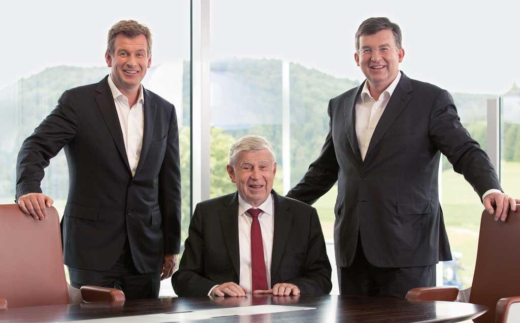 Interstuhl Geschäftsleitung Helmut, Werner und Joachim Link